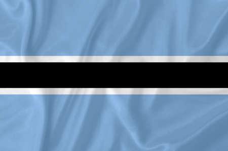 botswana: Botswana waving flag
