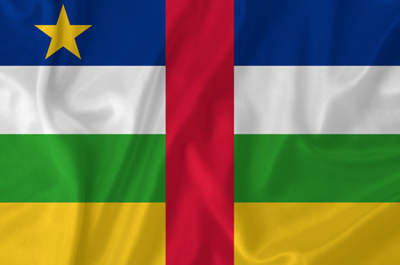 central african republic: Central African Republic waving flag Stock Photo