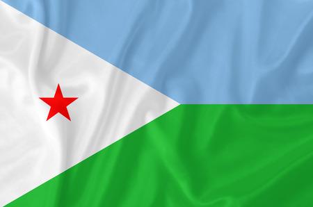 djibouti: Djibouti waving flag