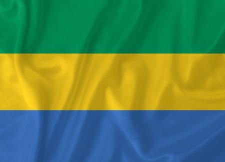 gabon: Gabon waving flag