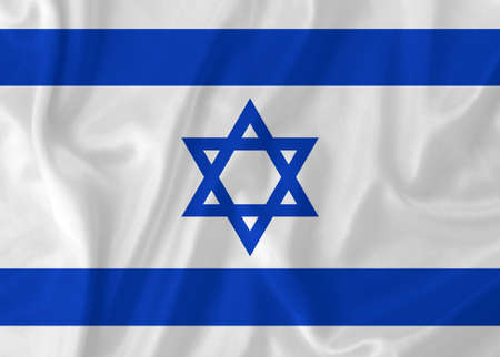 Israel waving flag photo