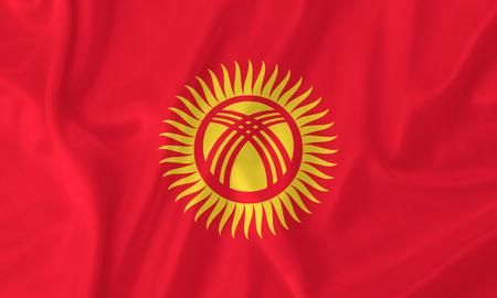 kyrgyzstan: Kyrgyzstan waving flag