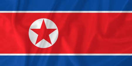 north korea: North Korea waving flag