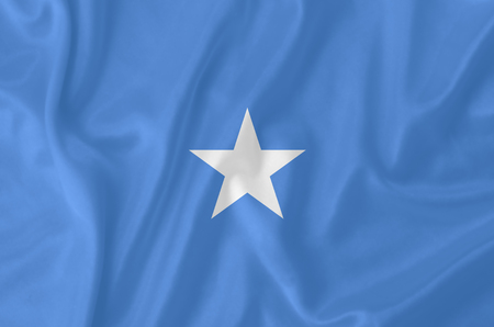 Somalia waving flag photo