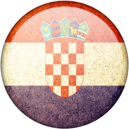 Croatia button flag photo