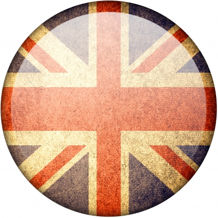 United Kingdom button flag photo
