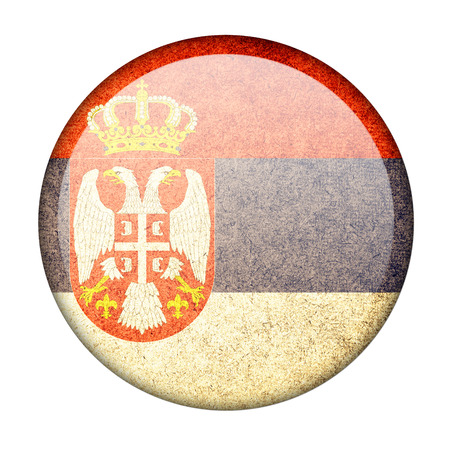 Serbia button flag photo