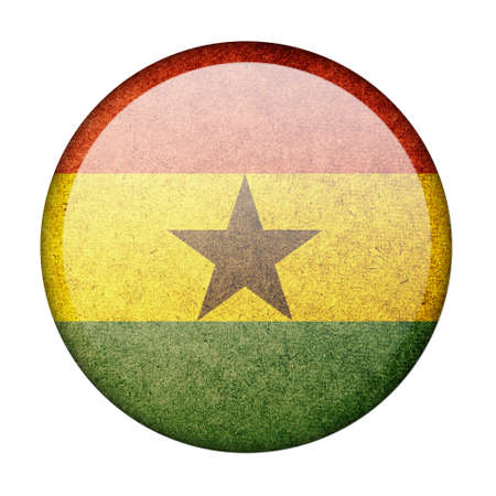 Ghana button flag photo