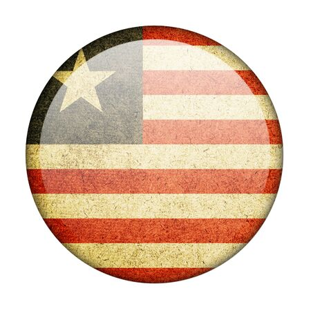 Liberia button flag photo