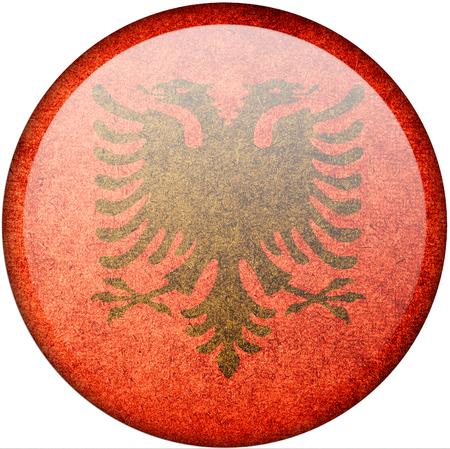 albania: albania button flag Stock Photo