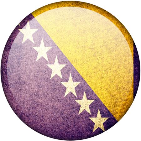 bosnia and herzegovina: Bosnia and Herzegovina button flag