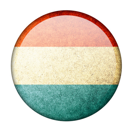 Luxembourg button flag photo