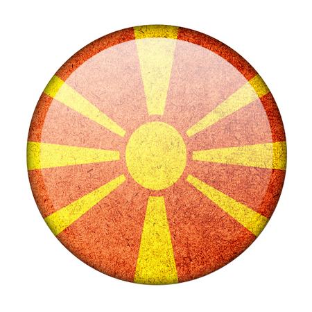 landlocked: Macedonia button flag Stock Photo
