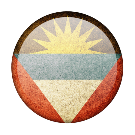 antigua flag: Antigua and Barbuda button flag