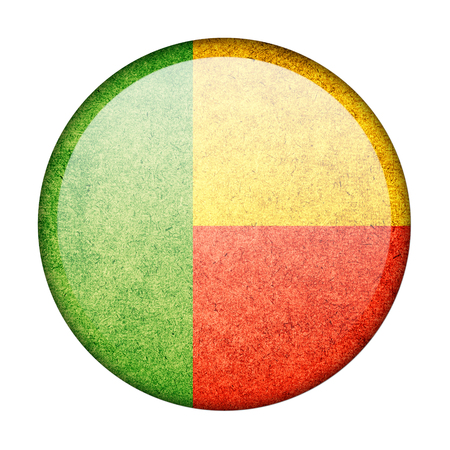 Benin button flag photo