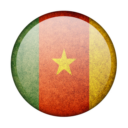 cameroon: Cameroon button flag Stock Photo