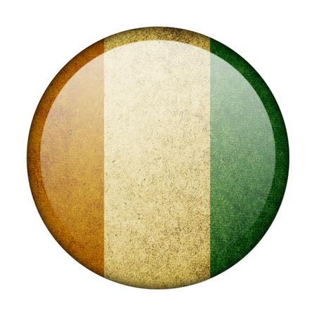 Ivory Coast button flag photo