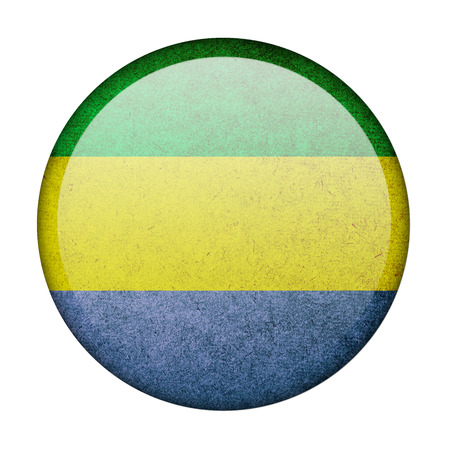 Gabon button flag photo