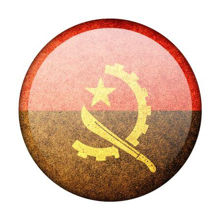 Angola button flag photo
