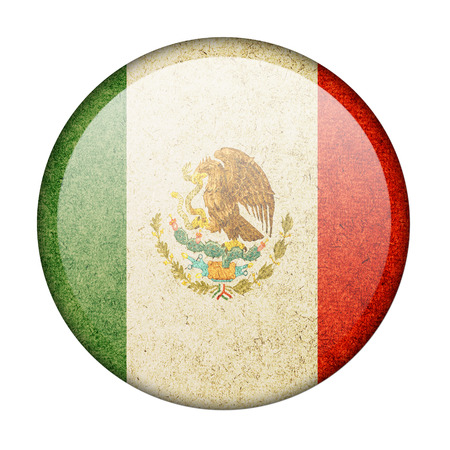 Mexico button flag photo