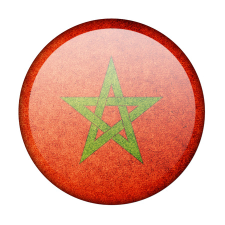 Morocco button flag photo