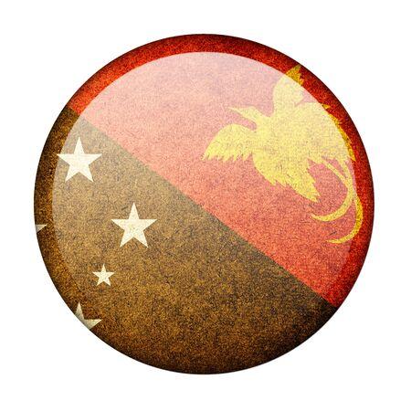 papua: Papua New Guinea button flag
