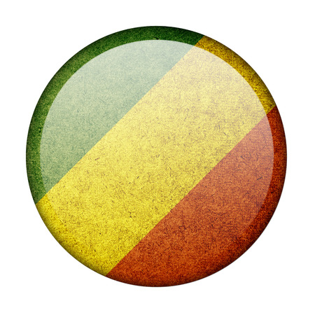 Republic of the Congo button flag photo