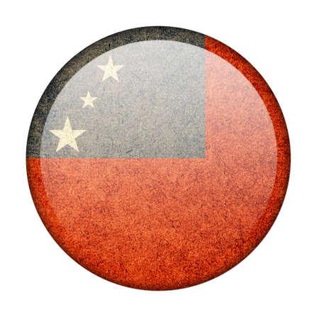 samoa: Samoa button flag
