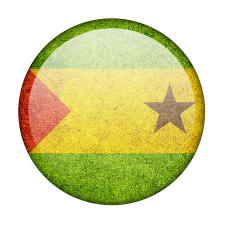 Sao Tome and Principe button flag photo