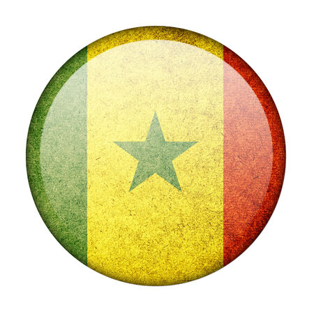 Senegal button flag photo
