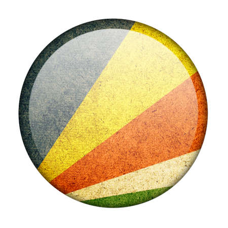 seychelles: Seychelles button flag Stock Photo