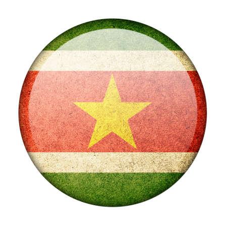 suriname: Suriname button flag Stock Photo
