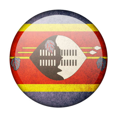 Swaziland button flag photo