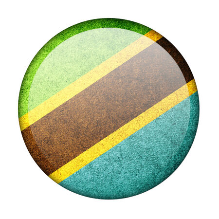 Tanzania button flag photo