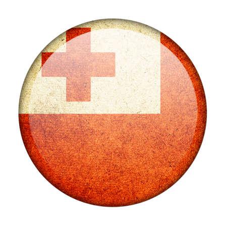 tonga: Tonga button flag Stock Photo