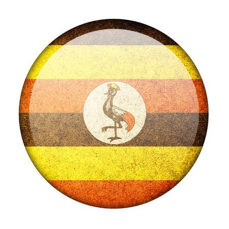 uganda: Uganda button flag