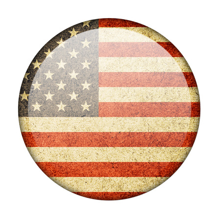 The United States button flag photo