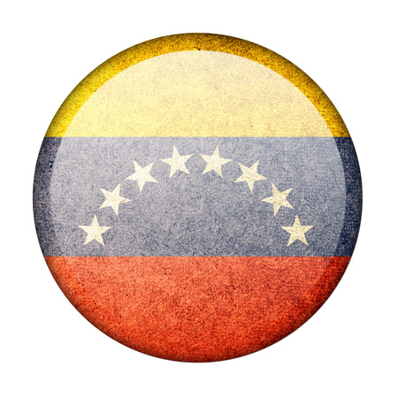 Venezuela button flag photo