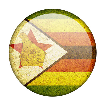 Zimbabwe button flag photo