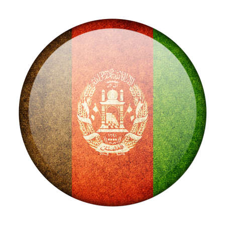Afghanistan button flag photo
