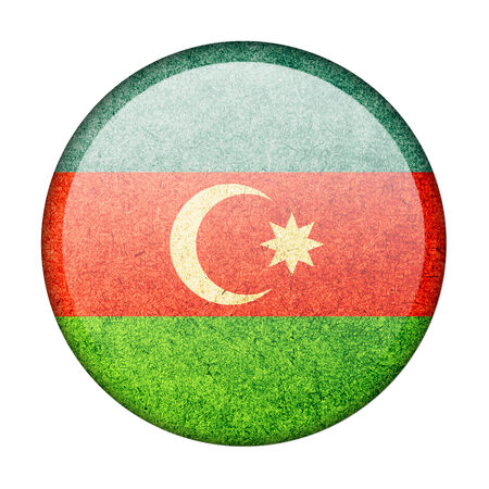 Azerbaijan button flag photo