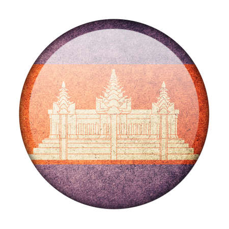 Cambodia button flag photo