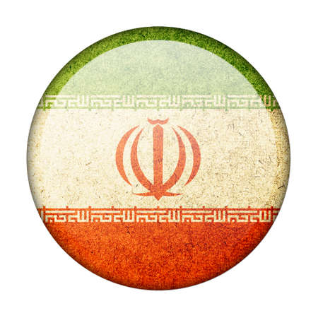 Iran button flag photo