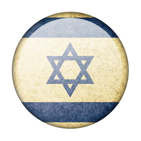 Israel button flag Stock Photo