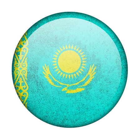 Kazakhstan button flag photo