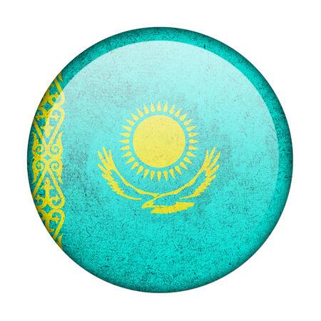 kazakhstan: Kazakhstan button flag Stock Photo