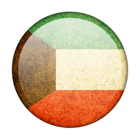 Kuwait button flag photo