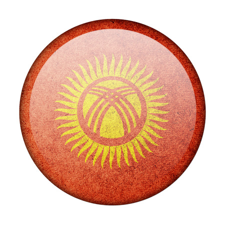 Kyrgyzstan button flag photo