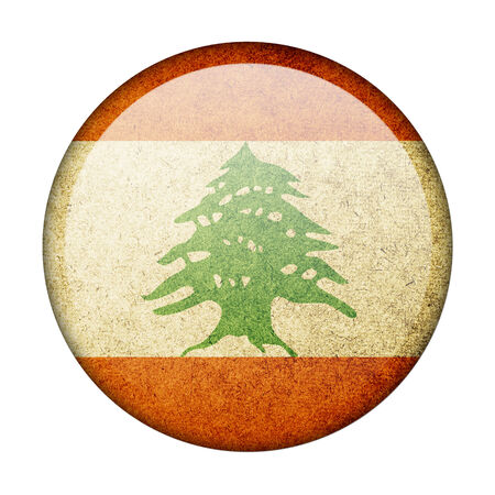 Lebanon button flag photo