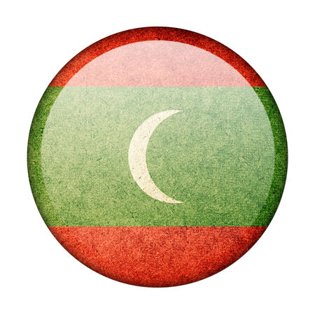 Maldives button flag photo